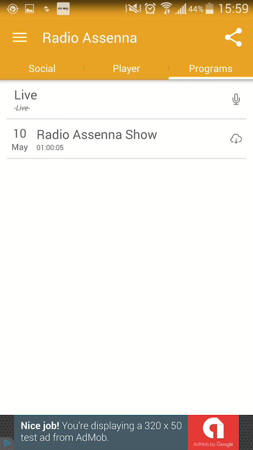 Radio Assenna- screenshot