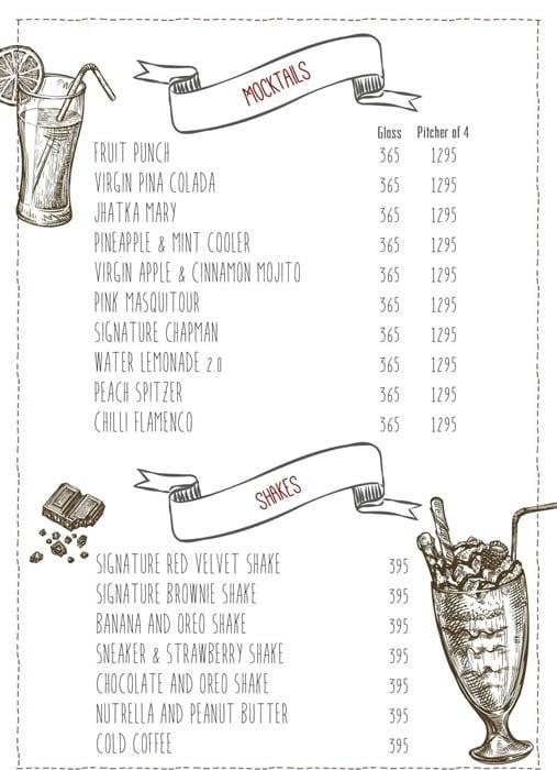 Warehouse Cafe menu 9