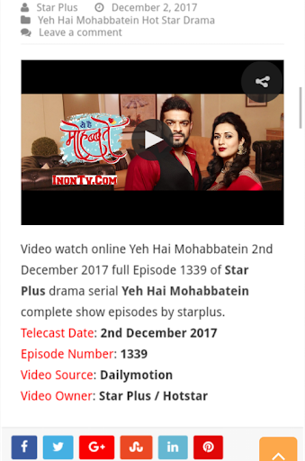 Download Yeh Hai Mohabbatein Serial Google Play softwares