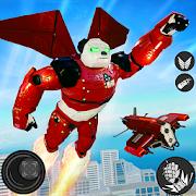 Flying Panda Robot Hero: Police Robot Attack