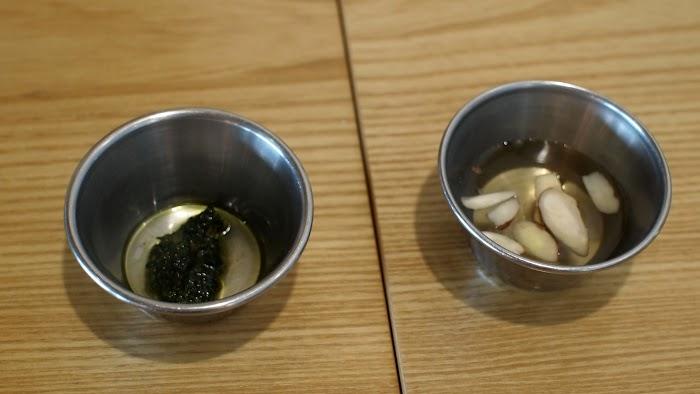 바질페스토와 꿀