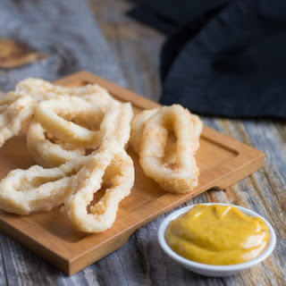 Calamari and a Curry Infused Dipping Sauce