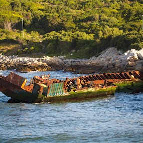 shipwreck by Dawie Nolte - Uncategorized All Uncategorized ( shipwreck, ship, sea, rusty, boat )