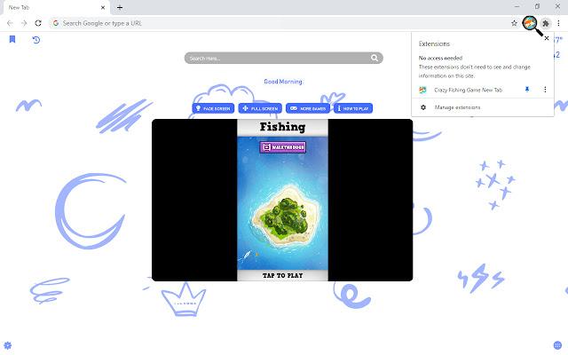 Crazy Fishing Game New Tab - zillakgames.com