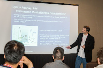 Photo: Thomas Yankeelov teaching Cancer Characterization; SPIE Medical Imaging 2015