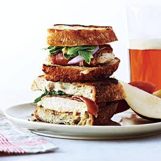 Grilled Ham, Chicken, and Gruyère Sandwiches.