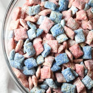 Red, White, and Blue Muddy Buddies Recipe
