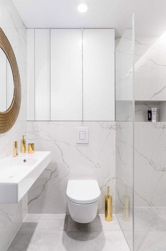 revestimentos para banheiros pequenos