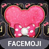 Tải Pink Black Twinkle Minny Bowknot Theme miễn phí