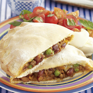 Beef and Bean Calzone.