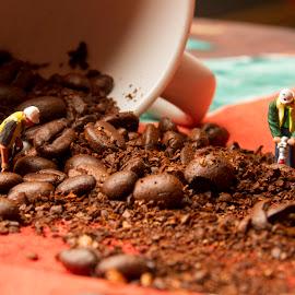 coffee by Fok Vleeshakker - Food & Drink Ingredients ( bonen, bean, coffee, brown, koffie )