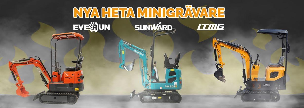 Minigrävmaskiner från Everun, Sunward och LTMG