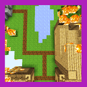 Deathly Fire Survival Challenge. Map for MCPE