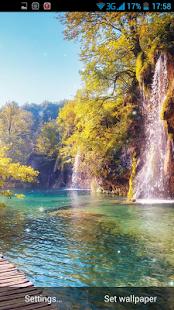 Vodopád 3D Živá Tapeta - náhled