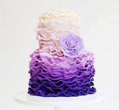 Photo: EDITOR'S CHOICE 1/16/2012  purple ruffles by Mili's Sweets  View cake details here: http://cakesdecor.com/cakes/4847 View all cakes by Mili's Sweets: http://cakesdecor.com/milissweets/cakes