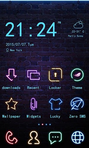 Neon Club - ZERO Launcher 1.0.1   app screenshot