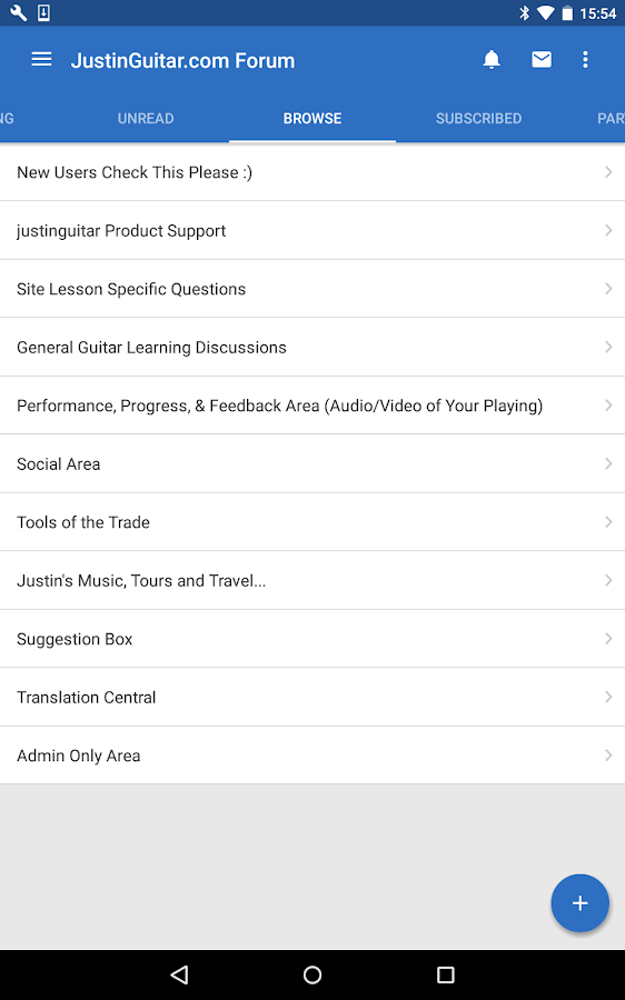 JustinGuitar Forum- screenshot