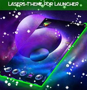 Lasery Téma pro Launcher - náhled
