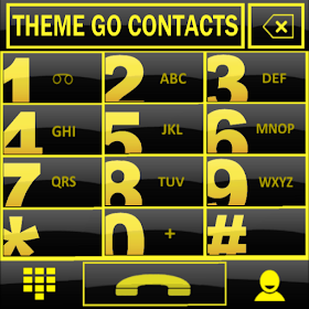 THEME GO CONTACTS BIG YELLOW