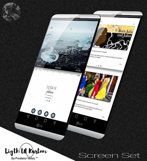 Ligth UI Kustom Pro 1/Klwp screenshot 1