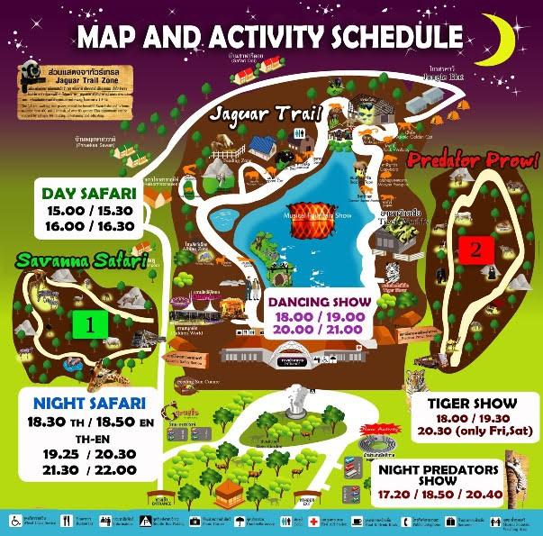 Mapa Safari Noturno