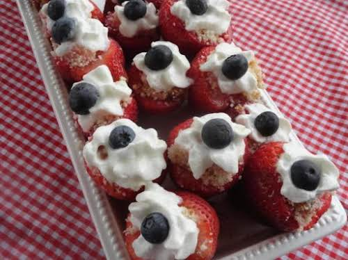 "Strawberry Shortcake Red White & Blue Bites ""These sweet little bites made..."