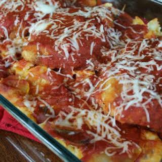 Zucchini Chicken Parmesan Casserole.