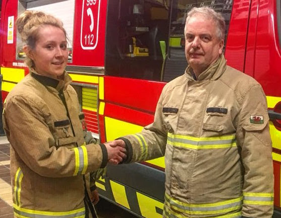 Female firefighting first for Welshpool