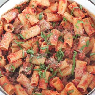 Sausage Basil Rigatoni Recipe