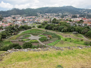 Photo: Reconstruction of Canari (pre-Inca) crops