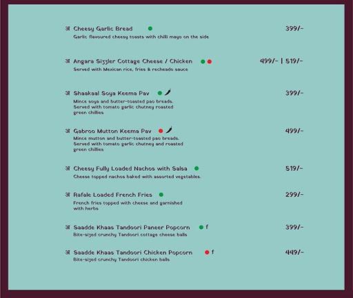 Anardana :  Modern Kitchen & Bar menu 6
