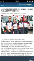 screenshot of Salud Universal