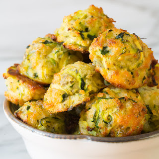 Healthy Baked Zucchini Tots.