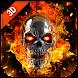 燃える頭蓋骨スタイルロックスクリーンセーバー - Androidアプリ