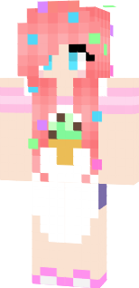 Edit of a baker skin. Sprinkles added in hair, ice cream cone on apron.