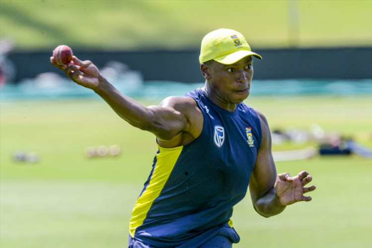 Lungi Ngidi of the Proteas during the South African national mens cricket team training session and press conference at SuperSport Park on January 12, 2018 in Pretoria, South Africa.