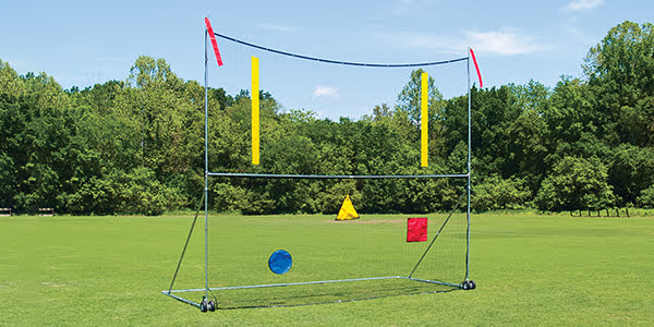 High School Portable Goal Post with 18'x21' Net, 3 Targets and 1 Upright Set
