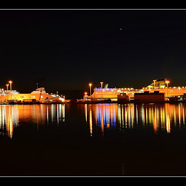 boats in the port by Paolo Marras - Transportation Boats