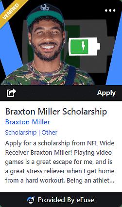 Braxton Miller Scholarship