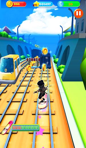 Ninja Subway Surf: Rush Run In City Rail screenshot 5