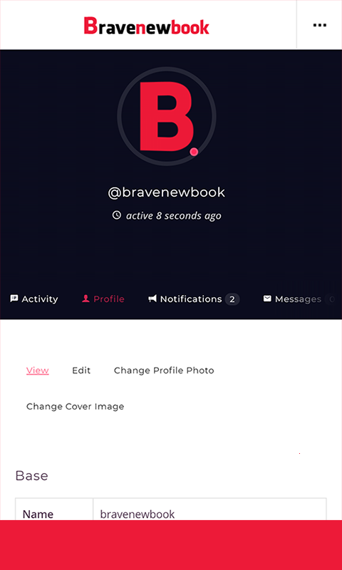 Bravenewbook- screenshot