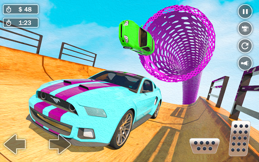 Mega Ramp Car Simulator u2013 Impossible 3D Car Stunts apkpoly screenshots 17