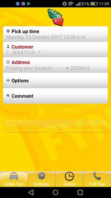 TaxaSyd - screenshot