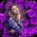 Purple Flowers Photo Frame APK