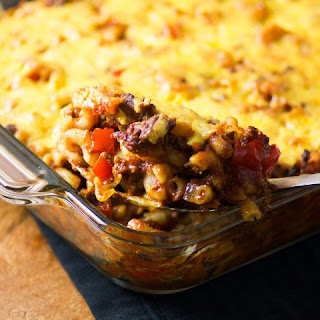 Cheesy Sloppy Joe Macaroni Casserole