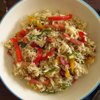 Rice With Bacon And Peppers.