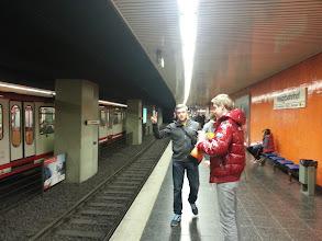 Photo: Denis und ich auf dem Weg zum Stadion