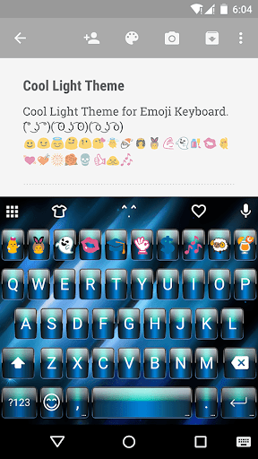 Cool Light Emoji Keyboard Skin