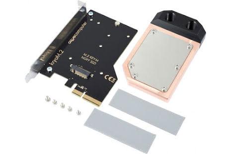 AquaComputer kryoM.2 PCIe 3.0 x4 adapter for M.2 NGFF PCIe SSD, M-Key med vannblokk