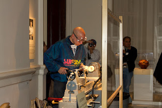 Photo: Mike starts the demo while Tim photographs in the background